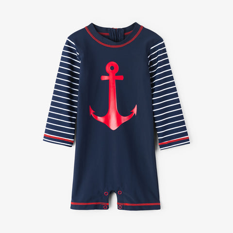 Hatley 'Sea Anchors' Navy Sun Suit