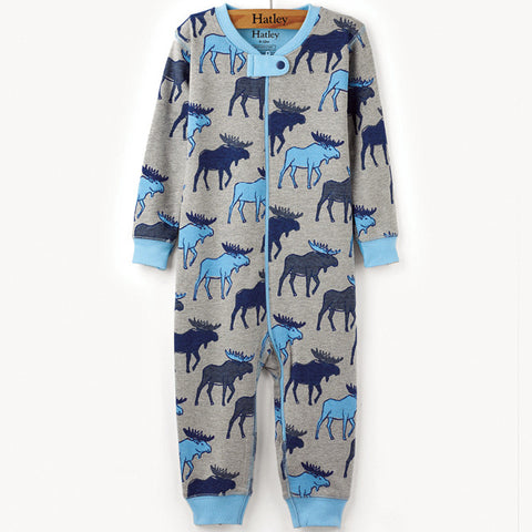 Hatley 'Moose' Design Playsuit