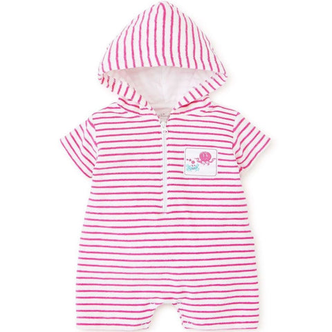 Kissy Kissy 'Under The Sea' Pink Towelling Romper