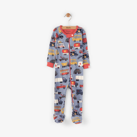 Hatley 'Rush Hour' Design Babygrow