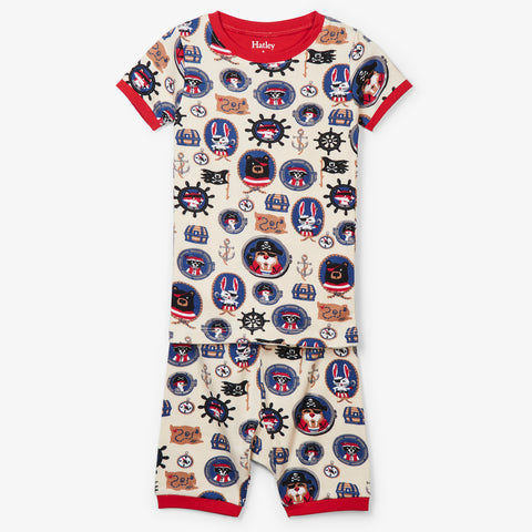 Hatley 'Pirate Portraits' Short PJ Set