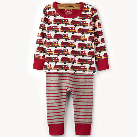 Hatley 'Fire Trucks' PJ Set
