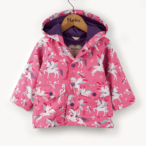 Hatley 'Rainbow Unicorns' Rain Coat