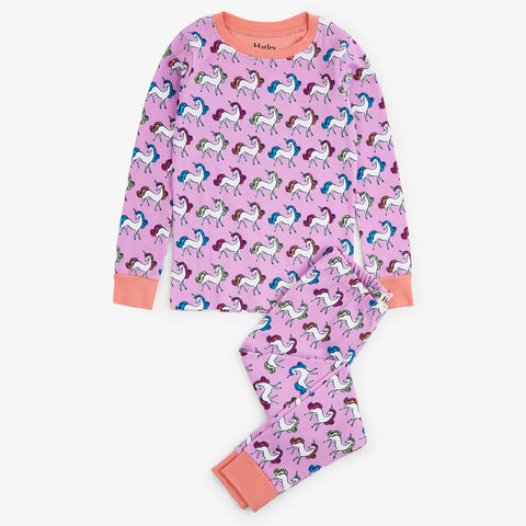 Hatley 'Rainbow Unicorns' PJ Set