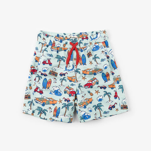 Hatley 'Surf Island' Design Swim Trunks