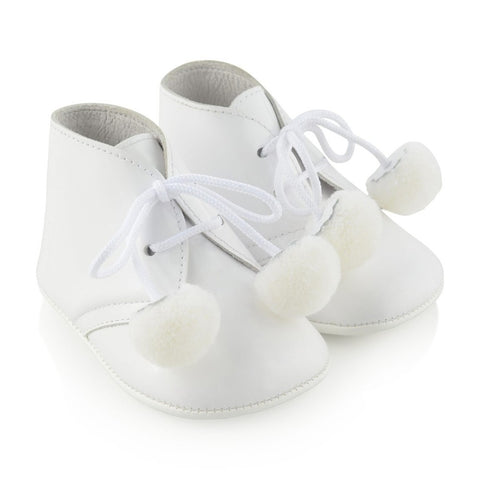 Andanines White Pre-Walker Shoes