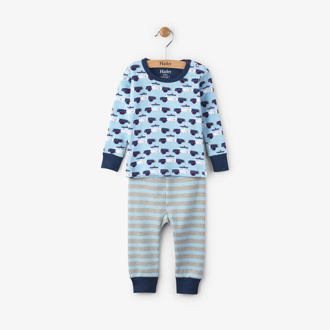 Hatley 'Police Car' Design PJ Set