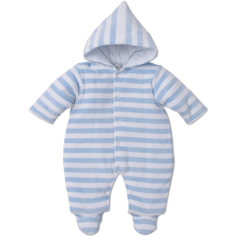 Kissy Kissy Blue Velour Snowsuit