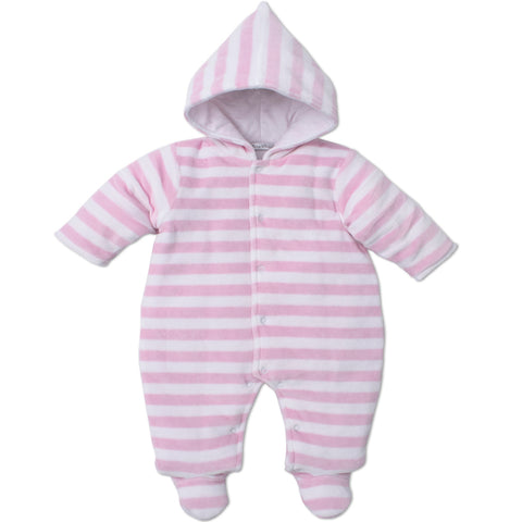 Kissy Kissy Pink Velour Snowsuit
