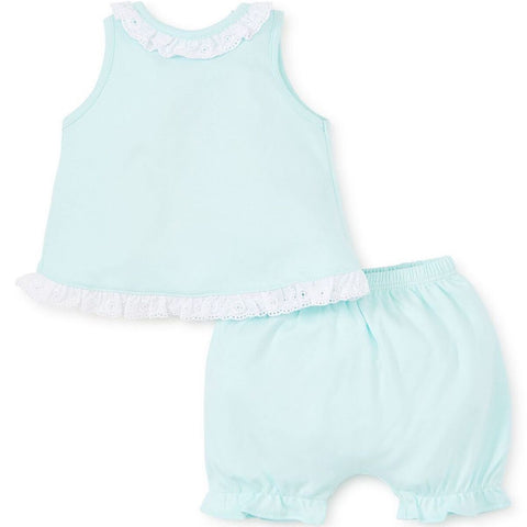 Kissy Kissy 'Baby Eyelet' Mint Two Piece Set