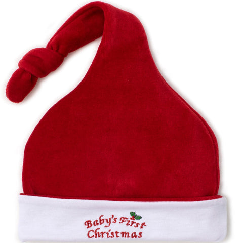 Kissy Kissy 'Baby's First Christmas' Velour Hat