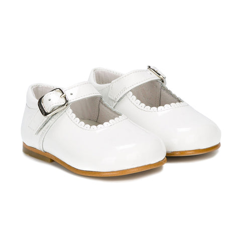 Andanines White Mary Jane Shoes