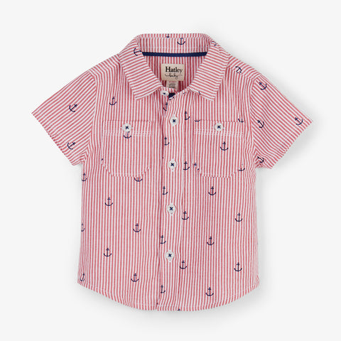 Hatley 'Anchors' Striped Shirt