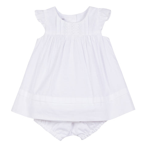 Absorba White Dress with Bloomers