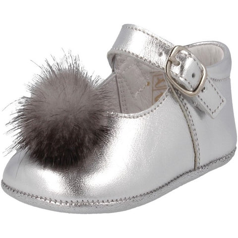Andanines Silver Pre-Walker Shoes