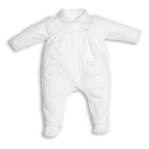 First Girls White Babygrow