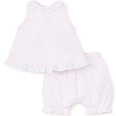 Kissy Kissy 'Baby Eyelet' Pink Two Piece Set