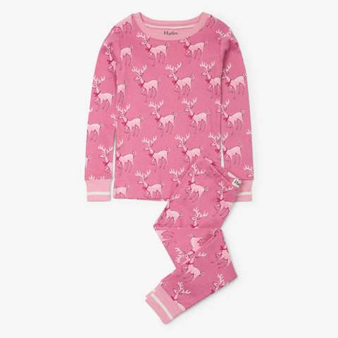 Hatley 'Darling Deer' Pink PJ Set
