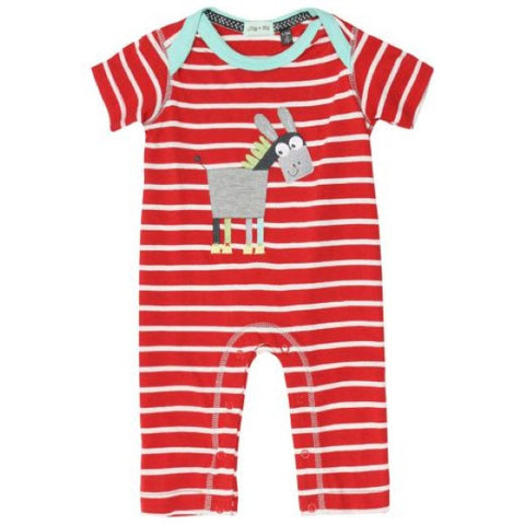 Lilly & Sid Red and White Playsuit