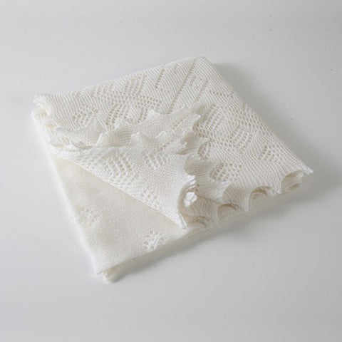 G.H. Hurt & Son Super-Fine Merino Wool Christening Shawl
