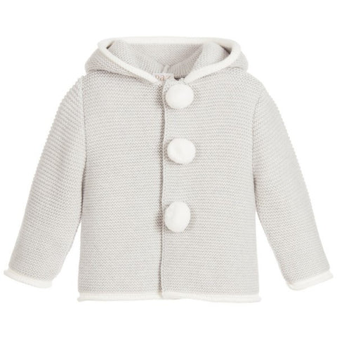 Paz Rodriguez Grey & Cream Knitted Jacket