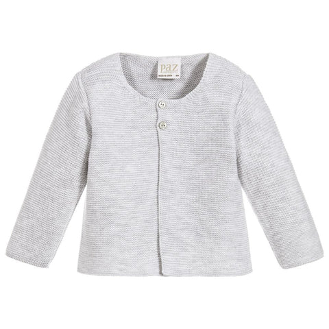 Paz Rodriguez Grey Knitted Cardigan