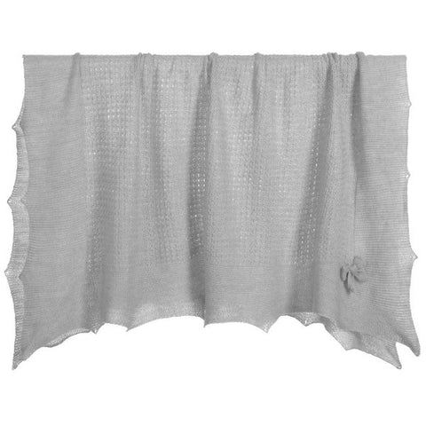 Paz Rodriguez Grey Knitted Blanket