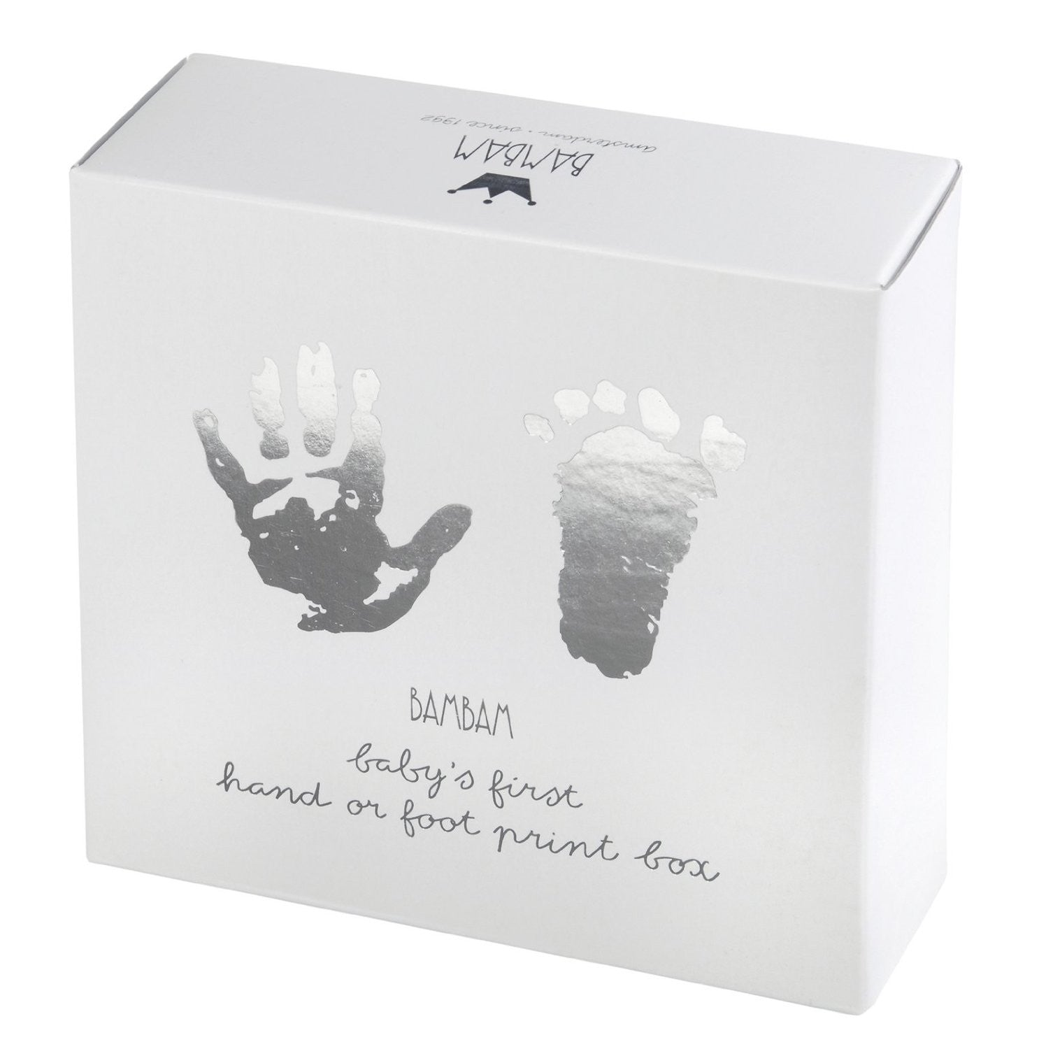 BAMBAM Baby's First Hand or Foot Print Box