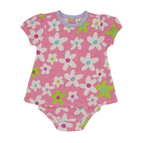 Hatley Pink Floral Body with Dress Overlay