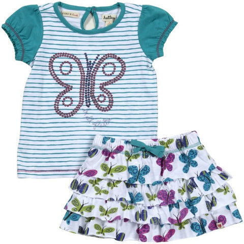 Hatley Butterflies Design Two Piece Set