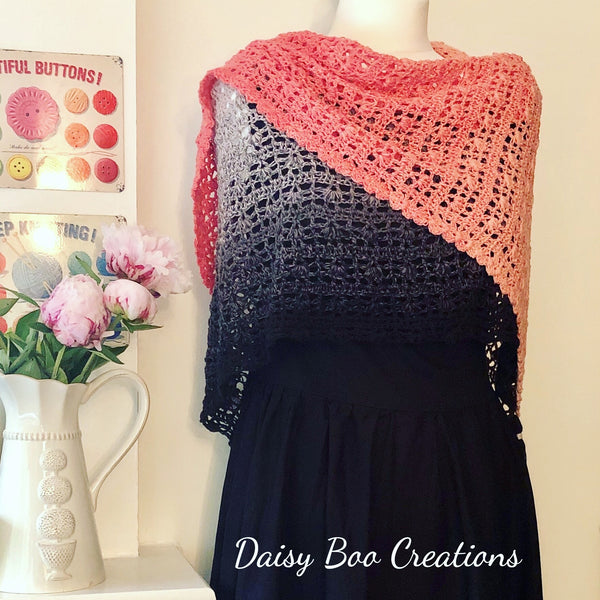 PDF Pretty Maids All in a Row Shawl Pattern