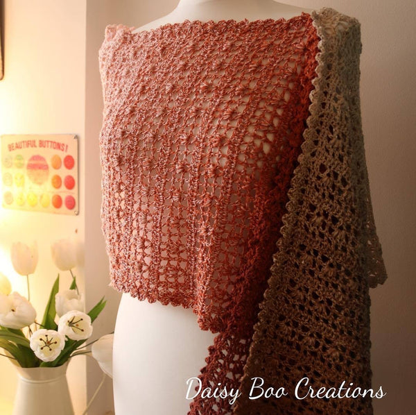 PDF Pretty Maids All in a Row Scarf Pattern