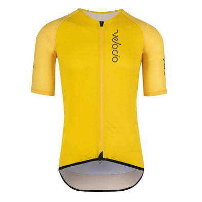Gold Yellow Radiator Mesh Men's Jersey