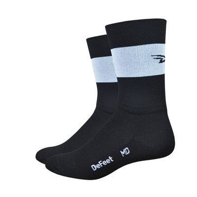 Aireator Team DeFeet Black w/White Stripe 5""