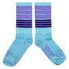 "Handlebar Mustache Aireator 6"" BIGGIE SMALLS SOCKS - ICE BLUE/PURPLE"