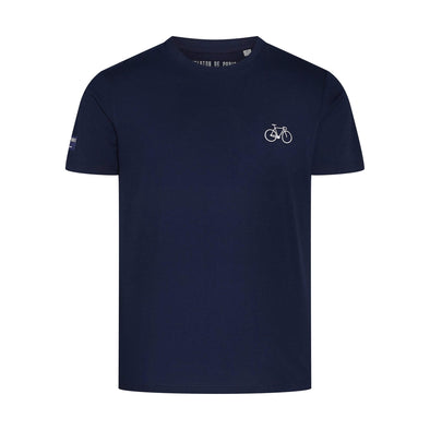 Navy Embroidered Bike Men's T-Shirt