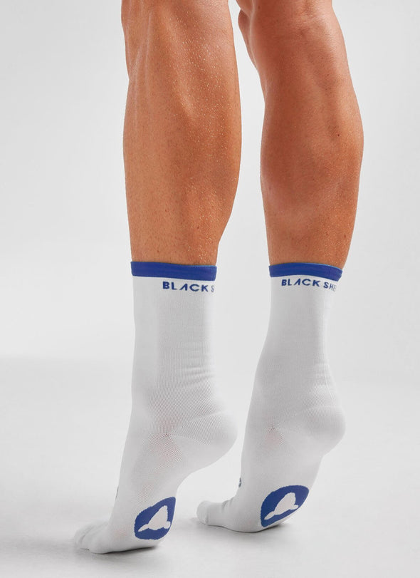 Blue Stripe Perfect Crew Socks