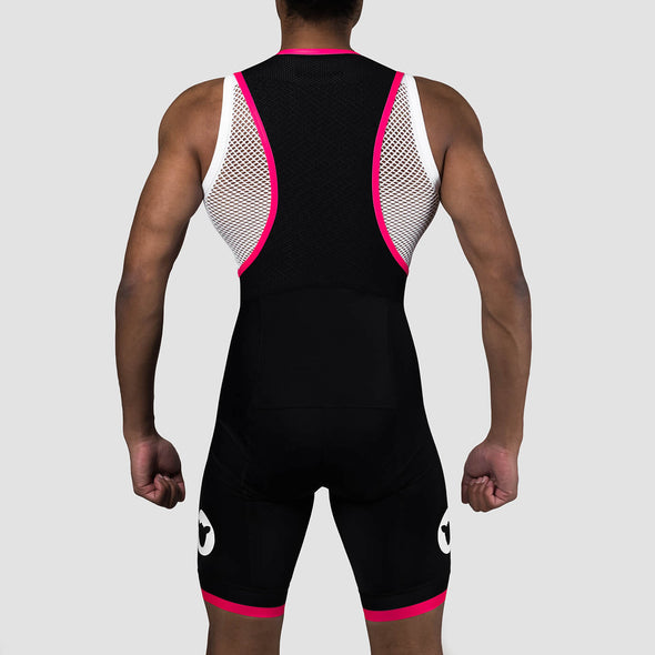 Neon Pink Team Men's Bib