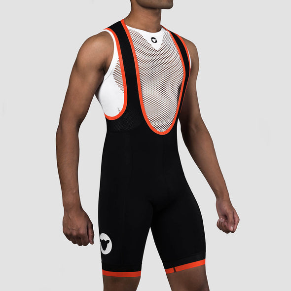 Neon Orange Team Men's Bib