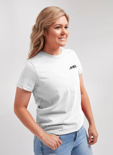 White MR Women's Crew Tee