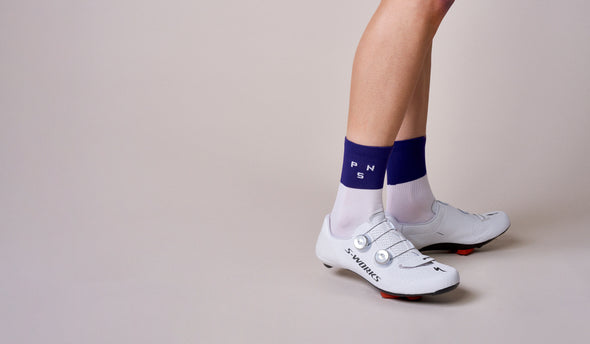 Block Purple PNS Logo Socks