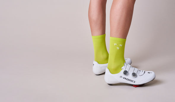 Bright Lime PNS Logo Socks