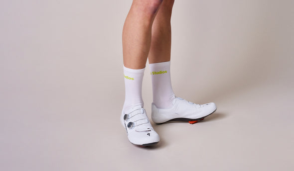 White Bright Lime PNS Socks