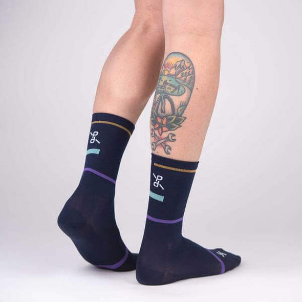 Navy Laser PLTN Socks