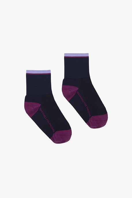 Stripe Socks - Plum
