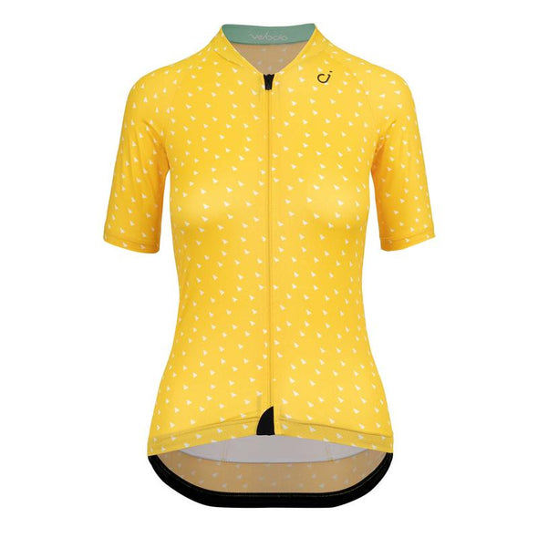 Gold Yellow Triangles Ultralight Women's Jersey
