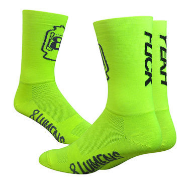 "8 LUMENS F*ck Yeah Neon Yellow - Aireator 6"" Double Cuff"