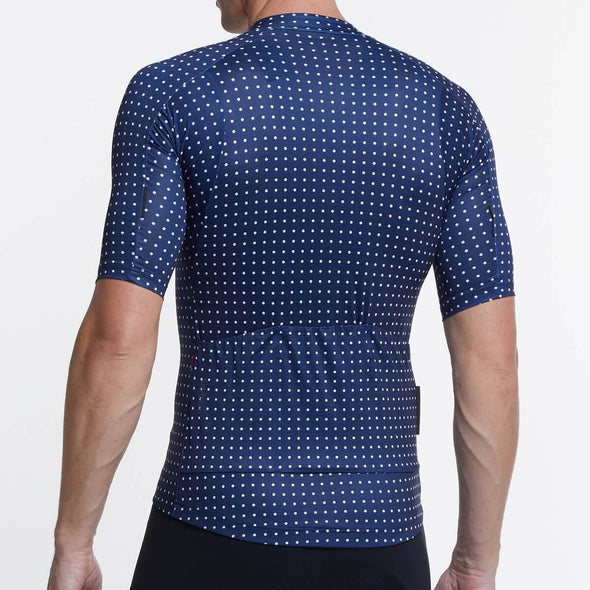 Navy Grid Dot Ultralight Men's Jersey