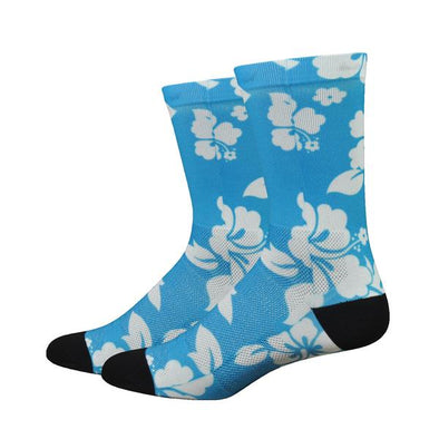 "Sublimation 6"" Hibiscus (Light Blue w/White)"