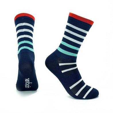 Navy Breton Signature Socks